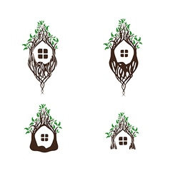 Fairy Magic Tree House vector image