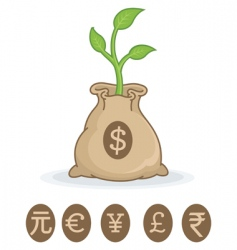 Financial growth symbol vector