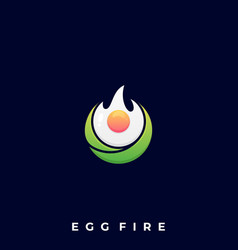 fire egg template vector image