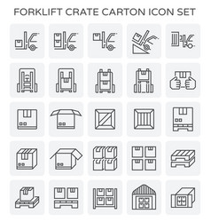Forklift crate carton vector