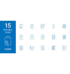 form icons vector image
