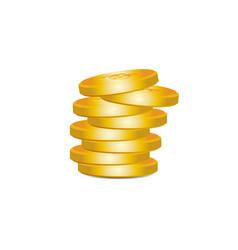 golden bitcoin bunch vector image