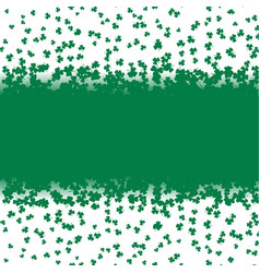 green falling shamrocks leaf on white background vector image