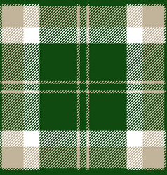 Green grey and white tartan plaid seamless pattern vector