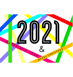 happy new year 2021 text design vector image