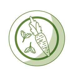 Healthy vegetarian food vector