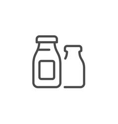 Kefir bottle line outline icon vector