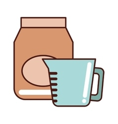 kitchen equipment utencils icon vector image