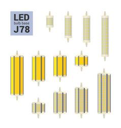 led light j78 bulbs colorful icon set vector image
