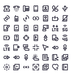 Line essential icons vector