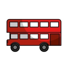 london bus classic icon vector image