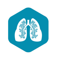 Lungs icon simple style vector