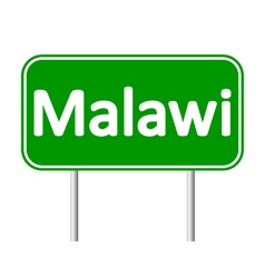 Malawi road sign vector