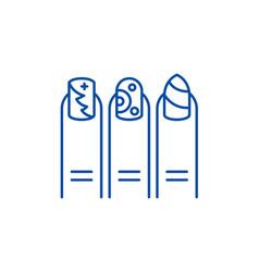 manicure line icon concept manicure flat vector image
