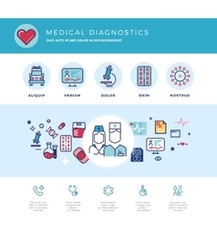 Medical diagnostics medicine research laboratory vector image
