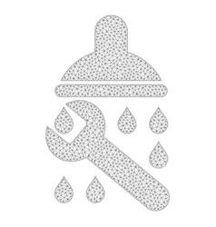 Mesh shower plumbing icon vector