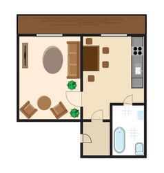 Modern graphic apartment top view vector