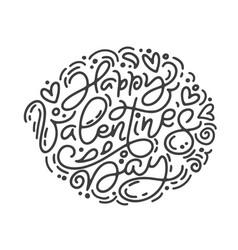 Monoline calligraphy phrase happy vector