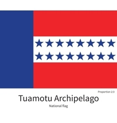 National flag of Tuamotu Archipelago with correct vector