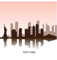 new york cityscape vector image