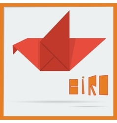 origami bird vector image