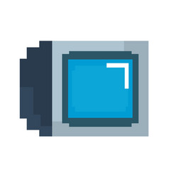 Pixel video game television vector