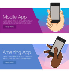 Presentation template of mobile screen vector