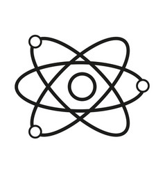 science model of atom sign vector image