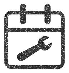 Service Day Grainy Texture Icon vector image