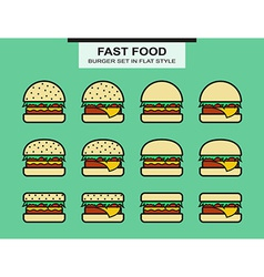 Set of different shape burgers vector