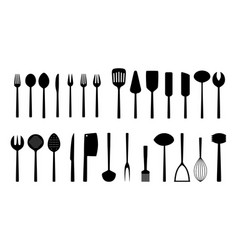 Set of kitchen tools vector