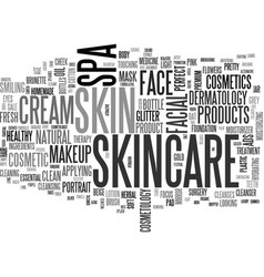 Skincare word cloud concept vector