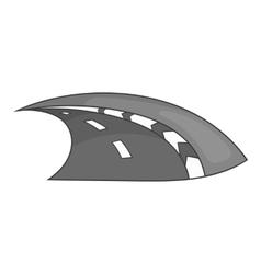 Speedway icon black monochrome style vector