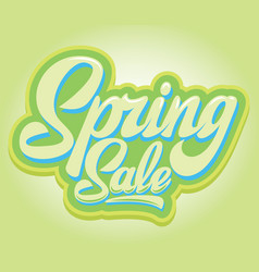 stylish calligraphic inscription spring sale on vector image