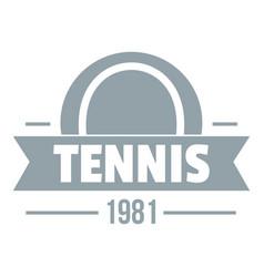 tennis logo simple gray style vector image