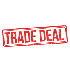 trade deal grunge rubber stamp vector image