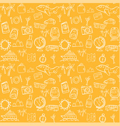 travel seamless pattern background set vector image