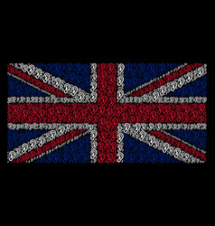 uk flag pattern of ear icons vector image