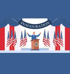 usa inauguration day concept democrat winner vector image