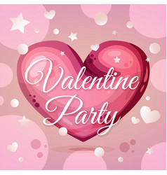 valentine party invitation layout vector image