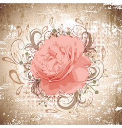 Vintage Abstract Peony Flower vector