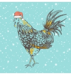Vintage design with rooster vector