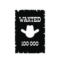 Wanted poster icon vector