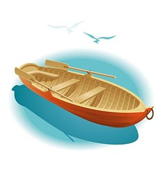 Water walk on boat vector