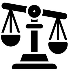 Weighing scale icon protest related vector