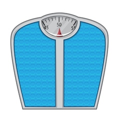 Weight scales isolated on white vector image