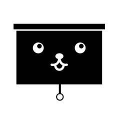 Window blind kawaii character vector