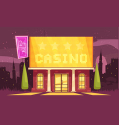 winter casino house composition vector image