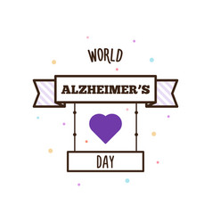 World alzheimers day vector