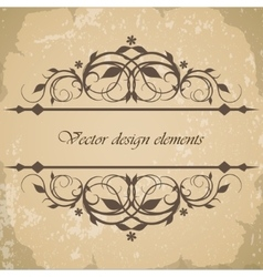 Beautiful vintage frame border vector image vector image